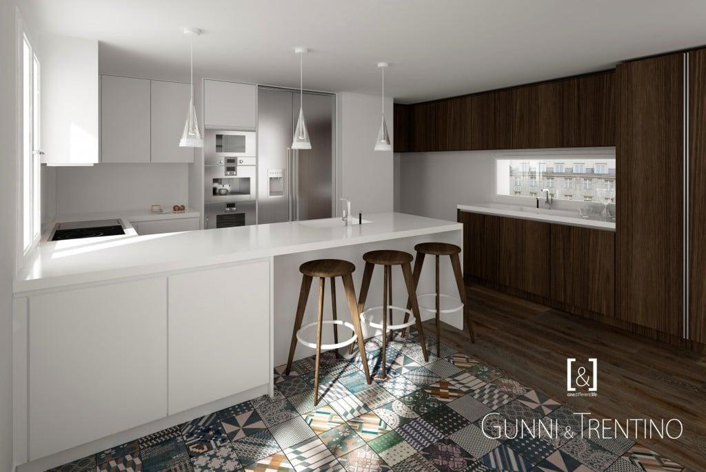 Cocinas de dise o modernas y de lujo en gunni trentino for Disenos de cocinas integrales de madera modernas