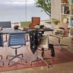 Comedro con sillas Aluminium de Vitra