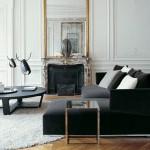 Ambiente de salón en tonos grises y blancos de Maxalto