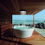 Bañera redonda de exterior