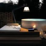 Bañera redonda para exterior