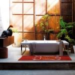 Baño moderno con toques exóticos serie Faraway