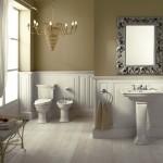 Lavabos, sanitarios y complementos para el baño clásico de lujo de Devon&Devon