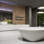 Baños modernos de lujo. Bañera exenta moderna de Antonio Lupi-en-gunnitrentino