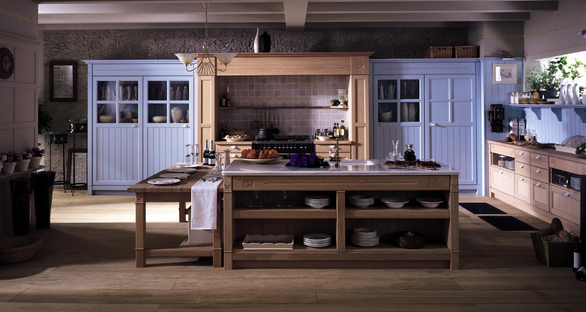 Muebles de cocina gunni trentino - Mesas rusticas de cocina ...