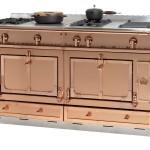 Cocina tradicional en acero inoxidable y acabado cobre Château 150 de La Cornue