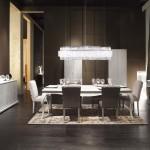 Comedor clásico con mesa Cánova y sillas Alba de Fendi Casa