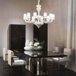 Comedor estilo Art Déco con mobiliario de Fendi Casa