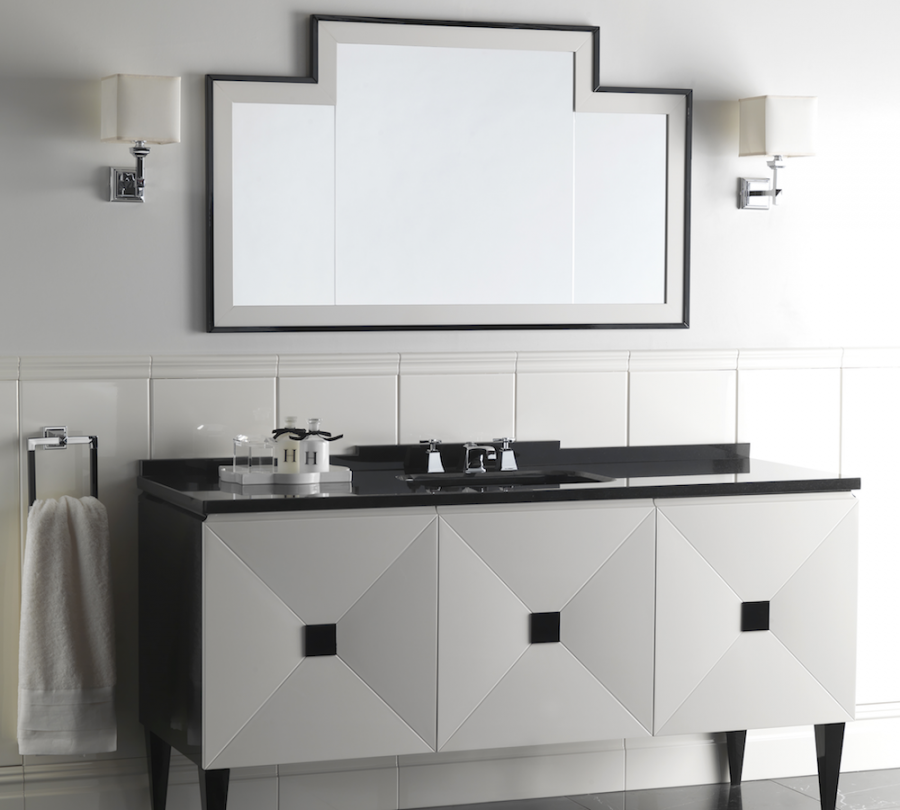 Baños Estilo Art Deco:Conjunto para baño estilo años art deco de la colección Jet Set