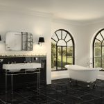 Ambiente de baño clásico de lujo