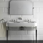 Doble consola lavabo cromada Devon & Devon