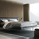Dormitorio estilo nuevo clásico en tonos tabaco