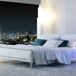Dormitorio moderno con cama de matrimonio modelo Park