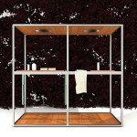Ducha exterior de madera modelo Wazebo