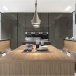 Colecciones de cocinas modernas en acabados madera