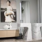 Lavabos de mármol diseño de Carlo Colombo para Antonio Lupi