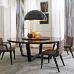 Mesa de comedor redonda con sobre de mármol de Antonio Citterio