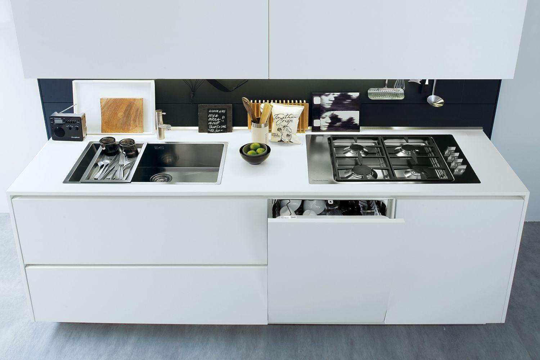 Cocinas de dise o modernas y de lujo en gunni trentino - Cocina blanca mate ...