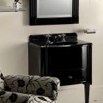Mueble bajo lavabo clásico en madera lacada
