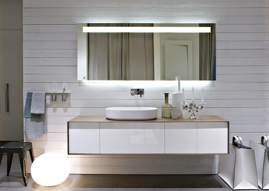 Ba os modernos y de dise o estilos innovadores en gunni for Mueble bajo lavabo ikea