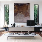 Mueble de televisión moderno Athos de Paolo Piva para B&B Italia