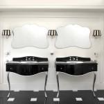Muebles de baño lacados y encimeras de piedra natural de Devon&Devon