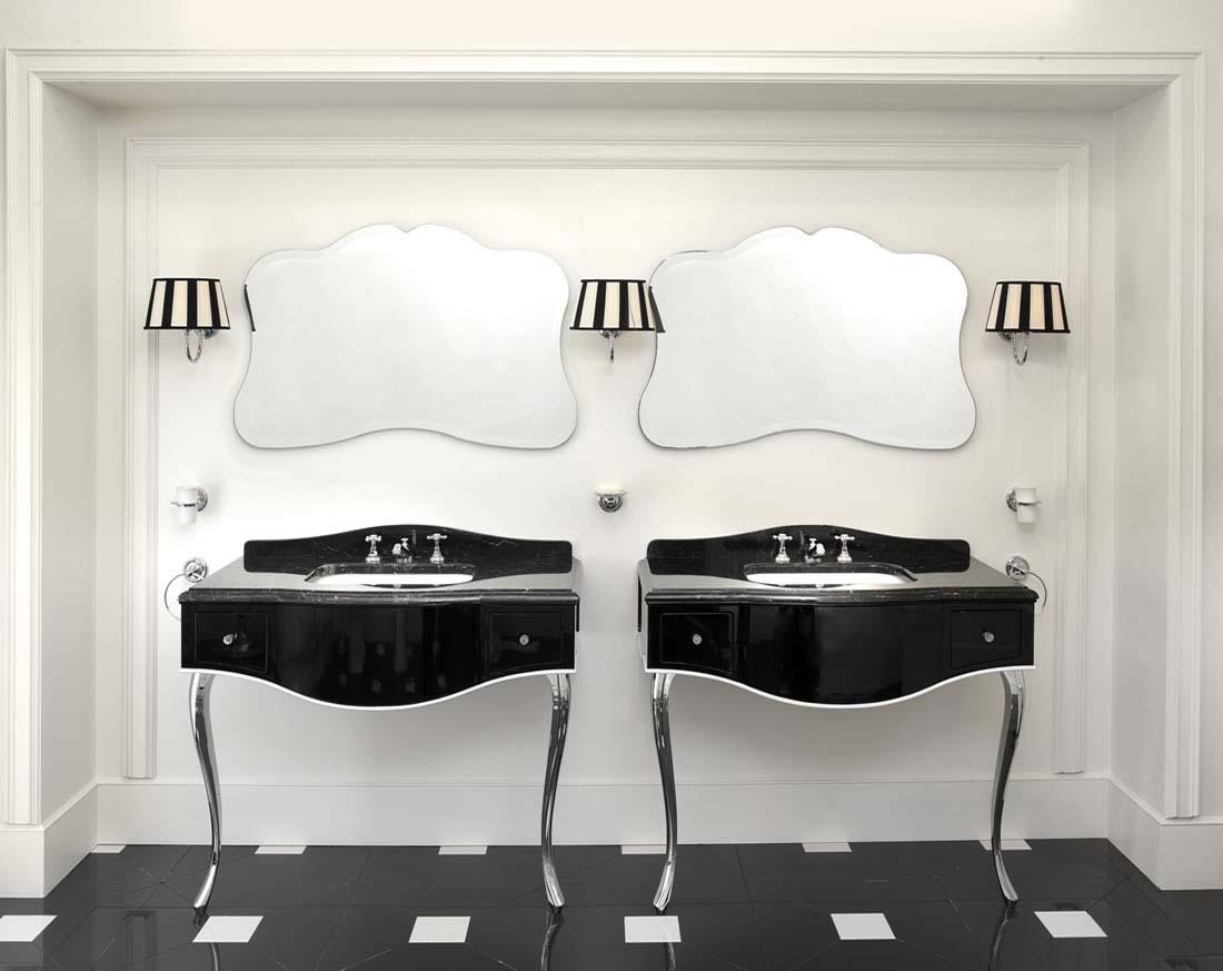 Cabinas De Baño De Lujo:Muebles de baño lacados y encimeras de piedra natural de Devon&Devon