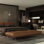Muebles de dormitorio modernos con cabecero en cuero