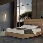 Nuevas camas con cabecero alto matelassé de Poliform