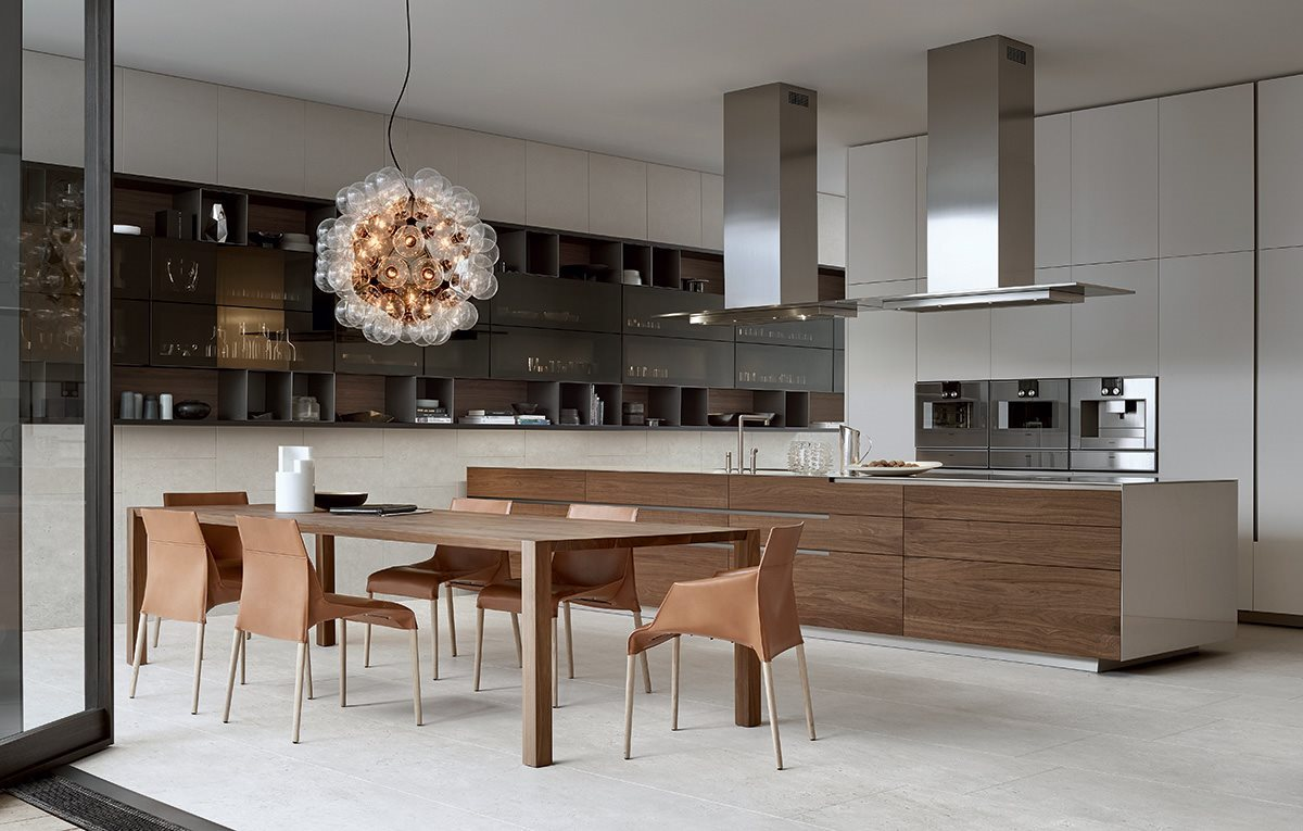 nuevas colecciones de cocinas modernas de lujo en distintos acabados