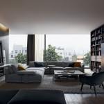 Salón con muebles de diseño italiano de Poliform