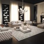 Salón clásico estilo años cuarenta con mobiliario de Fendi Casa