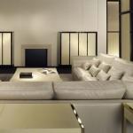 Salón con sofá esquinero de Armani Casa