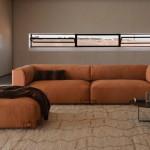 Sofá moderno tapizado en napa modelo Soho de Fendi Contemporary