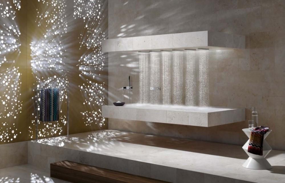 Cabinas De Ducha Jacuzzi:Sofisticación del wellness con la ducha horizontal de Dornbracht