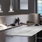 Lavabo ultrafino en mármol de la firma italiana Ágape