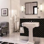 Baños de diseño estilo años 40.