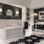 Baño clásico contemporáneo con bañera President de Devon&Devon