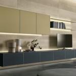 Sistemas de pared para TV audio y vídeo de Rimadesio
