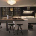 cocina moderna con isla en forma de L