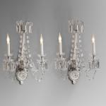 Apliques clásicos de pared en cristal
