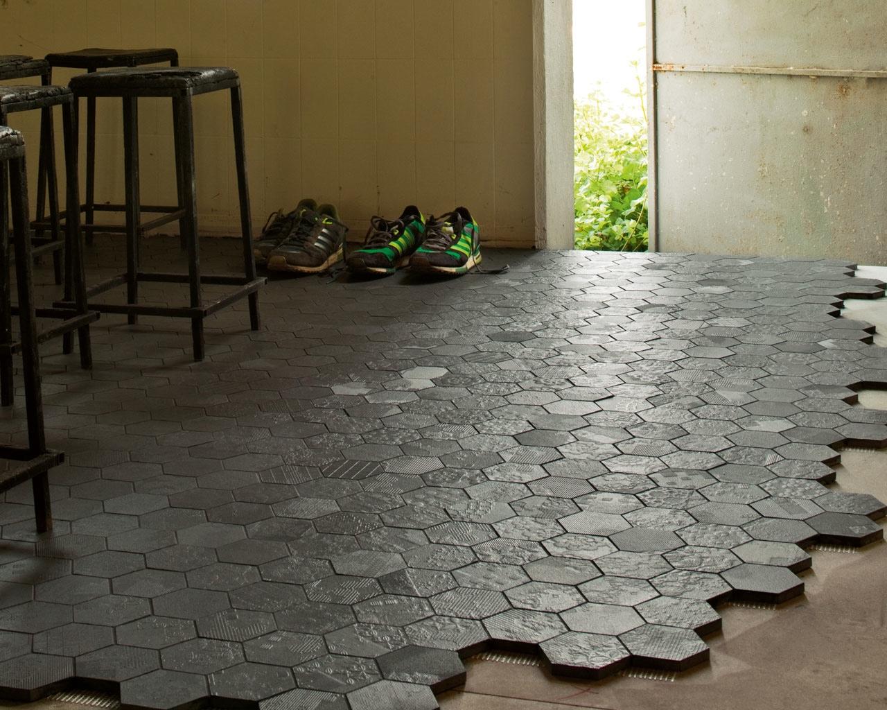 Pavimentos y revestimientos gunni trentino - Azulejos hexagonales ...