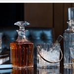 Botellas para licores y hieleras en cristal