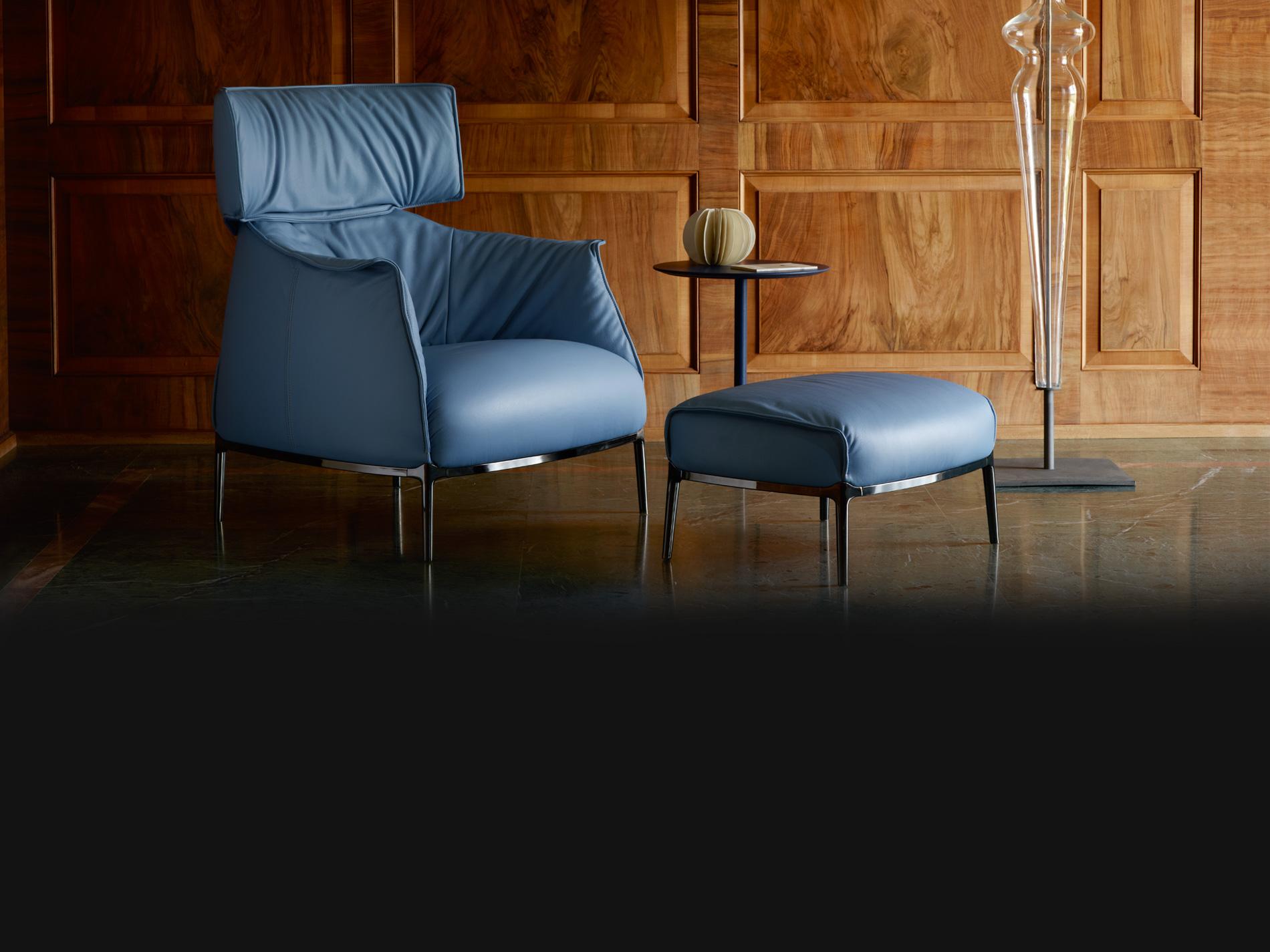productos poltrona frau de dise o gunni trentino. Black Bedroom Furniture Sets. Home Design Ideas