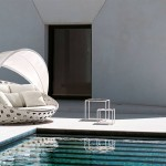 Cama de día para exterior diseño de Patricia Urquiola para B&B Italia