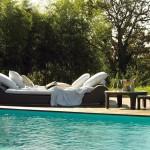 Chaiselongue de exterior modelo Intrigo de Fendi Casa Outdoor
