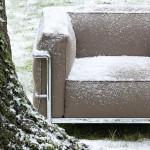 Colección LC para exterior. Los sofás de Le Corbusier preparado para la intemperie.