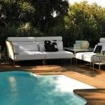 Colección de sofás de exterior Capri de Fendi Casa Outdoor