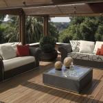 Colecciones de muebles de exterior de lujo Fendi Casa Outdoor