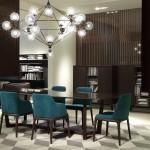 Comedor moderno con mesa y sillas marca Poliform
